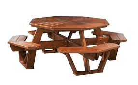 cedar picnic table cedar wood octagon picnic table round cedar picnic table plans