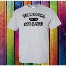 Wikipedia T Shirt Wikipedia College T Shirt