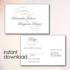 wedding rsvp postcards templates diy wedding rsvp postcard template instant download microsoft word