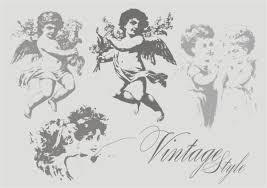 ヴィンテージ天使のベクター 無料素材イラストベクターのフリー
