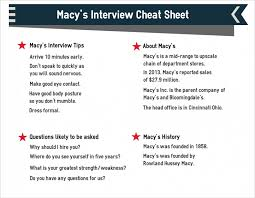 macy s interview questions and answers macy s interview cheat sheet