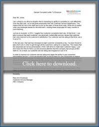 letter expressing concern sample complaint letter
