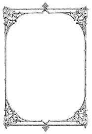 border frame victorian. Transparent Border Frame Victorian Fancy Black Picture Free Vintage Clip Art | Gorgeous N