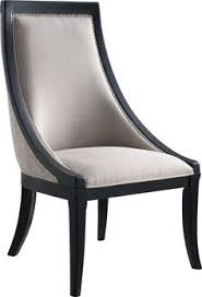 mcript upholstered side chair bine stylized updated traditional form and modern atude by adding the