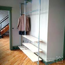 Plumbing Pipe Coat Rack Bookcase Diy Modern Coat Rack With Floating Shelves Plumbing Pipe 64