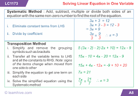 awesome collection of linear equations in one variable worksheets for class 8 with additional worksheet