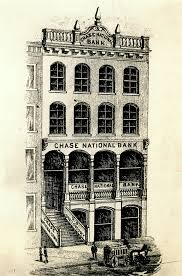 sketch of chase national bank building at 104 broadway in new york