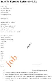 Reference Section Resume How Professional References For Resume