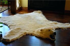 bear fur rug polar bear rug polar bear skin rug for in front of a fire faux fur polar bear rug with head