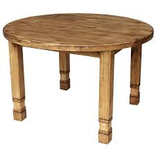 small round julio mexican rustic pine dining table