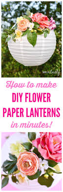 How To Create A Flower With Paper Diy Flower Paper Lanterns Tutorial Make Life Lovely