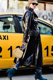how to wear a patent leather trench coat this season le fashion bloglovin