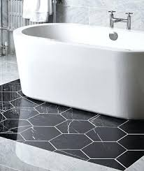 hexagon carbon polished tile bathroom designs hexagonal