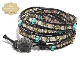 four wrap leather bead bracelet tutorial