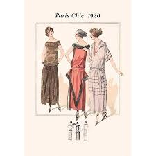 1920s Fashion Page From A 1920s Fashion Catalog From France With The Lastest In Womens Attire Poster Print By Unknown