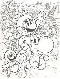 Tutti I Personaggi Di Super Mario Da Colorare Gratis Disegni Da