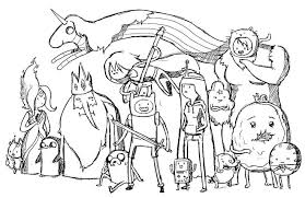 Small Picture Adventure time coloring pages all characters ColoringStar