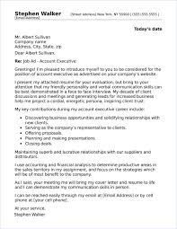 Account Executive Cover Letter Samples Account Executive Cover Letter Papelerasbenito