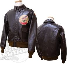 rickson buzz rickson s flight jacket leather jacket 2 contract no 23380 patch 365th fighter