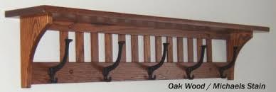 Oak Wall Coat Rack Buy Mission Coat Rack Shelf Solid Oak Wall Mounted 100 Hooks 1001100 42