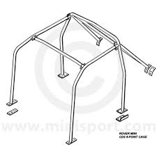 Rbn004 mini rear roll cage safety devices minisport mini sport