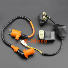 online get cheap scooter starter relay aliexpress com alibaba group Auto Start Relay Coil Wiring gy6 50cc 110cc 125cc 150cc cdi box performane ignition coil starter relay kit for chinease scooter Auto Relay with Diode Wiring