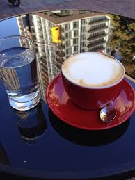 beautiful cappuccino and i love that it always comes with a glass of water on the side yelp