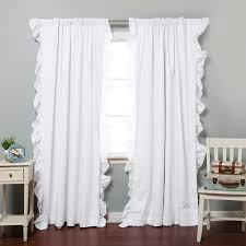 incredible white ruffle blackout curtains and black curtain curtains target ruffle white panel shower blackout
