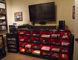video game room furniture. get the game systems in place and it is all good video room furniture