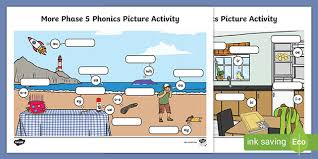 Students look at the pictures and circle the correct word. More Phase 5 Phonics Picture Worksheet Teacher Made