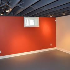 Home Lighting  Unfinished Basement Ceiling Creating A New Look - Exposed basement ceiling