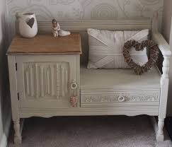 shabby chic furniture pictures. Fashionable Shabby Chic Furniture Oak Telephone Table Seat Painted In Annie Sloan Chalk Paint Pictures E