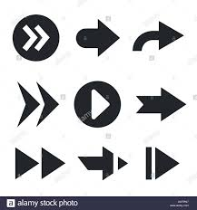Web Design Arrows Set Of Arrows For Web Design Isolated On White Stock Vector