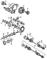 parts com® audi rear suspension axle and differential flange 2006 audi a8 quattro l w12 6 0 liter gas axle differential