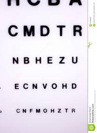 Eyesight Vision Chart Optician Eye Test Chart Stock Image Image Of Eyesight