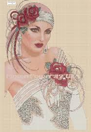 Art Deco Cross Stitch Charts Cross Stitch Chart Art Deco Lady No 97 Art Deco Cross