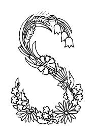 Coloriage Alphabet Fleurs Sur Hugolescargot Com