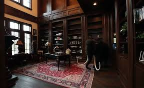 castle interior design. Perfect Interior Luxury Custom Wood Home Office With Built In Bookshelves In Castle Interior Design