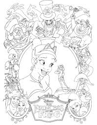 Small Picture Princess Tiana Was Thrilled Always With Prince Frog Coloring Pages