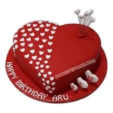 Heart Shaped Birthday Cake For Husband Doorstepcake