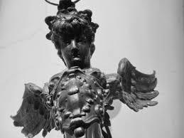 フリー写真画像 天使 ブロンズ バスト 鋳鉄製 像 彫刻 アート 人々