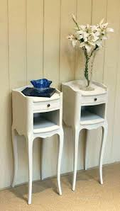 tall skinny bedside table small tables thin interior shelves regarding narrow prepare from white