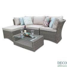 deco garden furniture. 5pc Rattan Sofa Corner Setl 2 Outdoor Cover Fabulous Image Ideas Modular Garden Furniture Deco