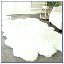 faux animal hide rugs exotic rug white fur cowhide black and