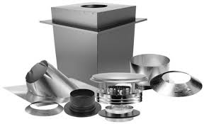 triple wall basic through the ceiling chimney stove pipe vent kit