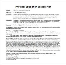 Pe Lesson Plan 7 Physical Education Lesson Plan Templates Word Apple