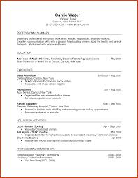 Download Veterinary Resume Haadyaooverbayresort Com