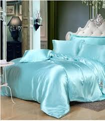 silk aqua bedding set green blue satin california king size queen full twin quilt duvet cover fitted bed sheet double linen funky bedding duvet covers on