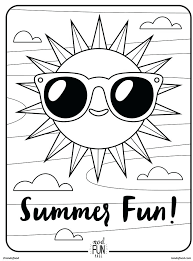 Fun Color Pages Kids Coloring Pages Summer Fun Coloring Pages For