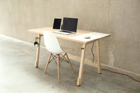 minimalist office furniture. Modern Minimalist Desk A That Hides All Your Cords Office Furniture
